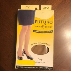 Futuro Beyond Support Ultra Sheer Thigh High Hosry